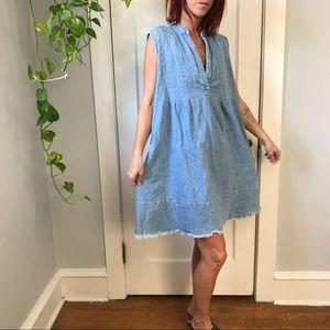 Current/Elliott Mid-Day Raw Hem Sleeveless Dress